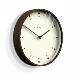 Mr Clarke Wall clock, Dia40cm, Dark Plywood Finish