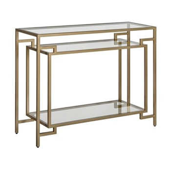 Architect Console table, W106.5 x H81 x D38cm, gold