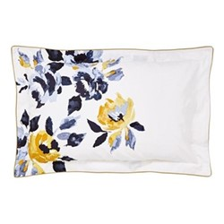 Galley Grade Floral Oxford pillowcase, L48 x W74 cm, chalk
