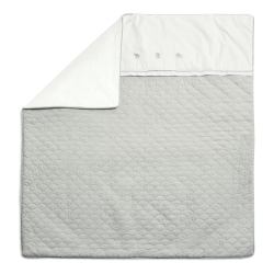 Welcome to the World - Grey Elephant Quilt, D120 x L110cm, Cotton/Bamboo