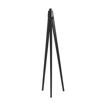 Tripod Wooden floor lamp - base only, D42 x H148cm, dark stain