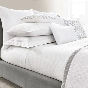 Maya King size duvet cover, L220 x W230cm, white