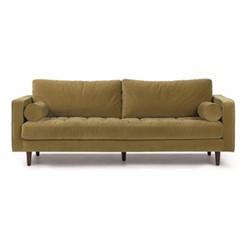 Scott 3 seater sofa, H84 x W225 x D100cm, gold