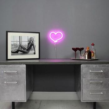 The Mini Heart Neon light, W25 x L22cm, pink