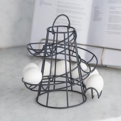 Brompton Egg run, H23 x W19.50 x D19.50cm, Carbon/Steel