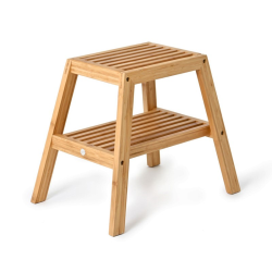 Slatted stool, H42 x W50.5 x D35.4cm, Bamboo