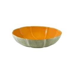 Melon Fruit bowl, 34 x 8.7cm, green/orange