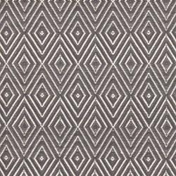Diamond Polypropylene indoor/outdoor rug, W61 x L91cm, graphite/ivory