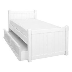 Charterhouse Sleepover bed, L203 x W98 x H92cm, silk white