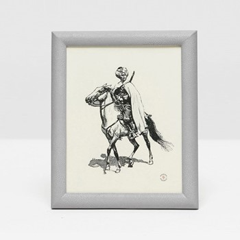 "Oxford Photograph frame, 8 x 10"", ash gray faux shagreen"