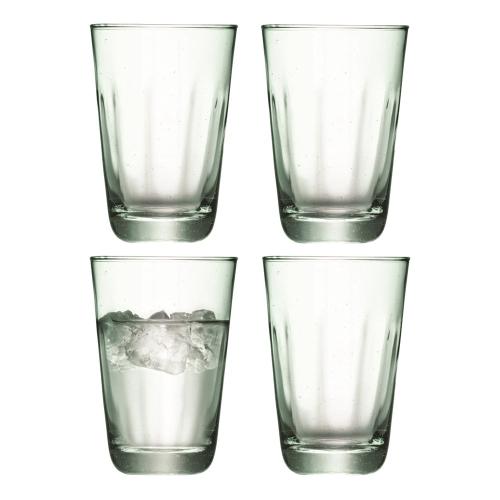 Mia Set of 4 highball tumblers, 350ml, recycled glass