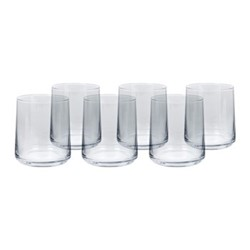 Hoxton Set of 6 tumblers, H9.5 x W8.6cm, clear