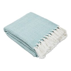 Diamond Throw, L230 x W130cm, teal