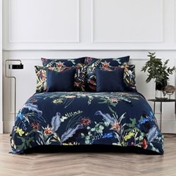 Willow Cove King size duvet cover set, 230 x 220cm, midnight