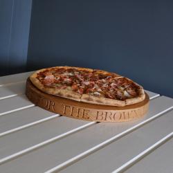 Personalised pizza board, 38 x 3.5cm, Oak
