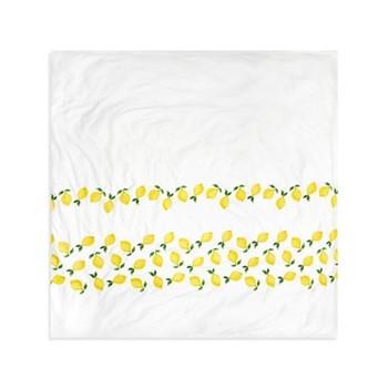 Lemons Super king size duvet cover, H220 x L260, white