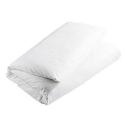 300 Thread Count Sateen Stripe Double duvet cover, L200 x W200cm, white