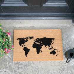Map Doormat, L60 x W40 x H1.5cm