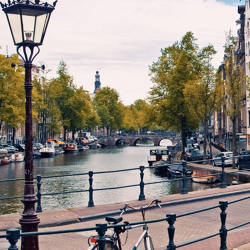 Michelin star dining and private gondola break for two in Amsterdam