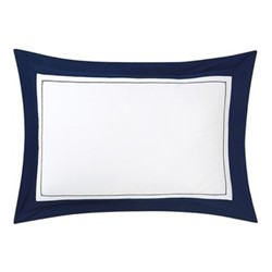 Lutece King size pillowcase, 50 x 90cm, marine