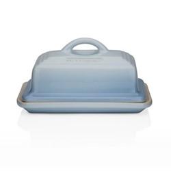 Stoneware Butter dish, 17 x 13 x 9cm, coastal blue