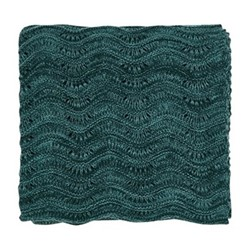 Dill Knitted throw, L170 x W130, aqua