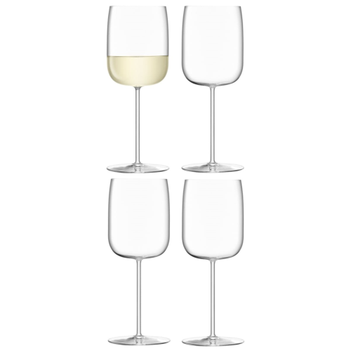 Borough Set of 4 wine glasses, 380ml, clear