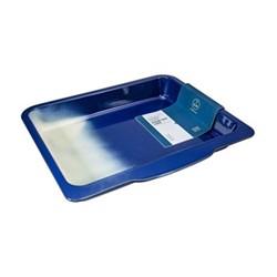 Enamel Large roasting tray, L40 x W36cm, navy blue