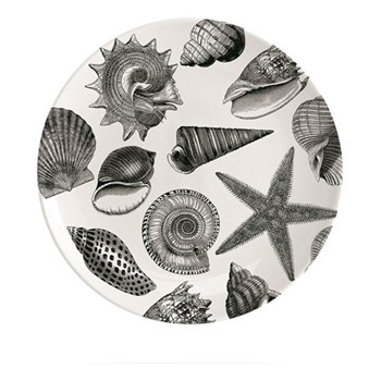 Seashore Plate, Dia20cm, black/white
