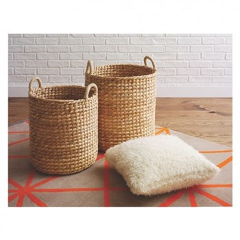 Duffield Water hyacinth basket, D44 x H53cm