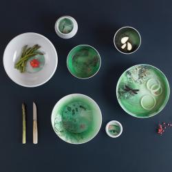 Faux Samblants Set of 6 stackable melamine bowls, D22.5 x H39cm, White