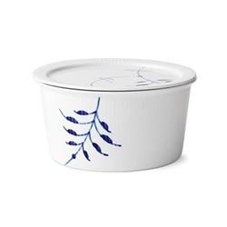 Blue Fluted Mega Bowl with medium lid, 1 litre