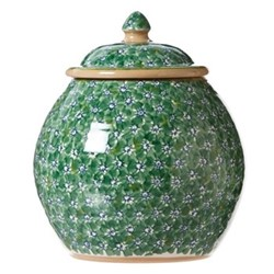 Lawn Cookie jar, H22.9 x W10.8cm, green