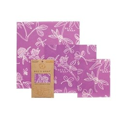 Clover Print Pack of 3 food wraps, small/med/large
