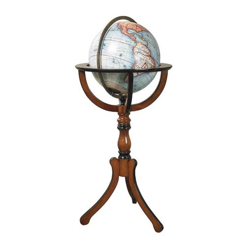 Library Globe, H96 x D48cm, Bronze/Honey Distressed Wood