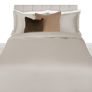 500 Thread Count Sateen King size duvet cover, W220 x L240cm, taupe