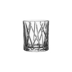 City Set of 4 whiskey glasses, 25cl - H8.7 x W7.8cm, glass