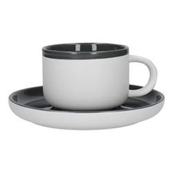 Barcelona Teacup and saucer, 290ml, cool grey