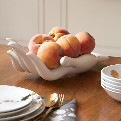 Muse Eve fruit bowl, W45.72 x D21.59 x H8.89cm, White