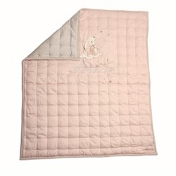 Millie Cot/cotbed quilt, pink