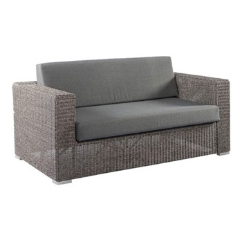 Monte Carlo 2 seater sofa, H76 x W150 x D89cm, grey