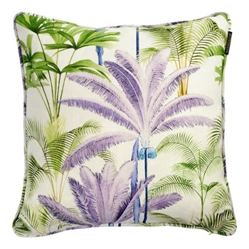 Palmeras Square cushion, L50 x W50cm, grey