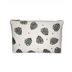 Jungle Leaf Pouch, W20 x L30cm, natural
