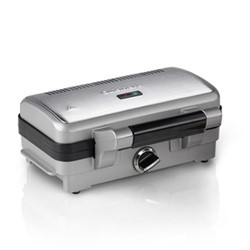 GRSM1WU 2 in 1 sandwich and waffle maker, brushed stainless steel