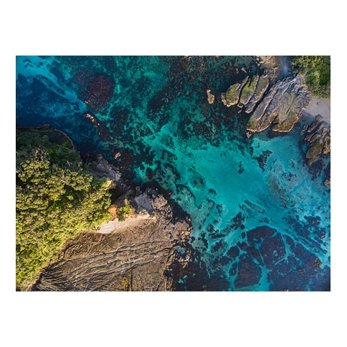 Clear Water at Goat Island Mounted print, H51 x W69cm, Perspex