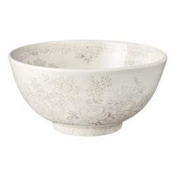 Dove Grey Asiatic Pheasants Mini footed bowl, 12cm, Grey/White