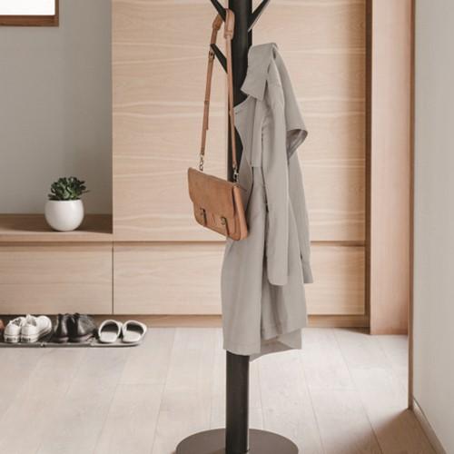 Flapper Coat rack, 57 x 165cm, Black/Walnut