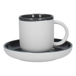 Barcelona Coffee cup and saucer, 300ml, cool grey