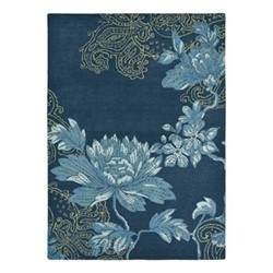 Fabled Floral Rug, W170 x L240cm, navy