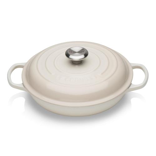Signature Cast Iron Shallow casserole, 26cm - 2 litre, Meringue